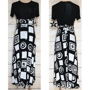 Vintage Joseph Ribkoff Creations Casual Midi Dress